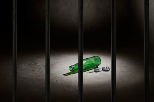 Beer bottle and Keys in Jail Cell - Criminal & DUI Law of Georgia